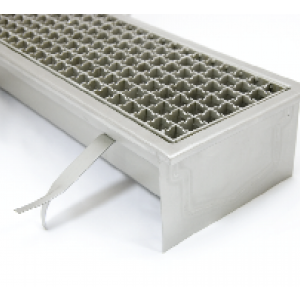 Stainless steel industrial floor drains with grate